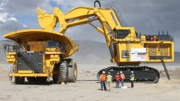 A loader at work at Goldcorp's Penasquito gold mine. Credit: Goldcorp.