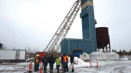 Visitors tour Aurvista Gold's Douay gold project in Quebec, 55 km southwest of Matagami. Credit: Aurvista Gold.