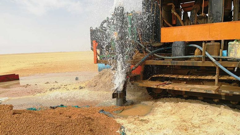 A water discovery 80 km southwest of Orca Gold's Galat Sufar South gold deposit, part of the Block 14 project in Sudan. Credit: Orca Gold.