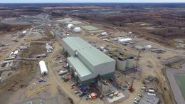 New Gold's Rainy River gold mine under construction in northwestern Ontario, 160 km south of Kenora. Credit: New Gold.
