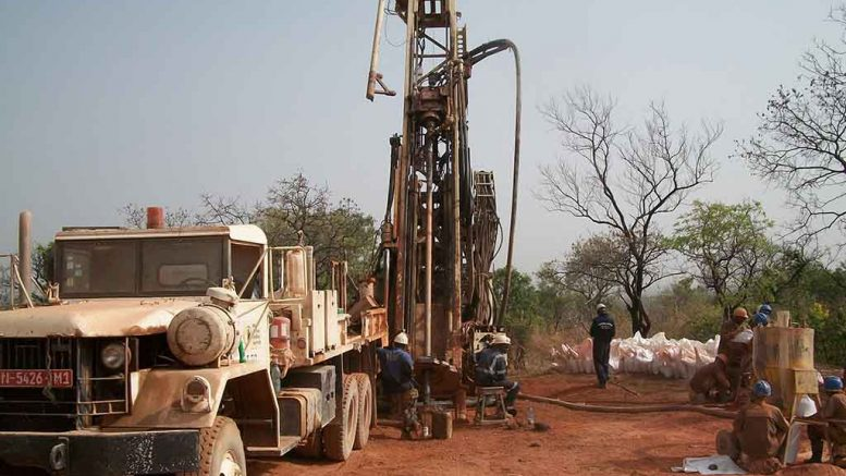 A drill crew at African Gold Group's Kobada project in Mali. Credit: African Gold Group.