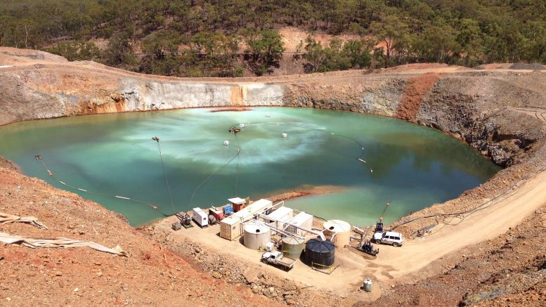 A technology called Virtual Curtain was used by Commonwealth Scientific and Industrial Research Organisation (CSIRO) to remove metal contaminants from wastewater at this commercial mine in Queensland, Australia, and the equivalent of around 20 Olympic swimming pools of rainwater-quality water was safely discharged. Credit: CSIRO.
