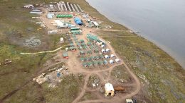 The camp at Sabina Gold & Silver's Back River gold project in southwestern Nunavut. Credit: Sabina Gold & Silver.