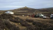 A drill rig at Pan American Silver's Joaquin silver project in Argentina in 2009, where Metalla Royalty & Streaming has acquired a royalty. Credit: Mirasol Resources.