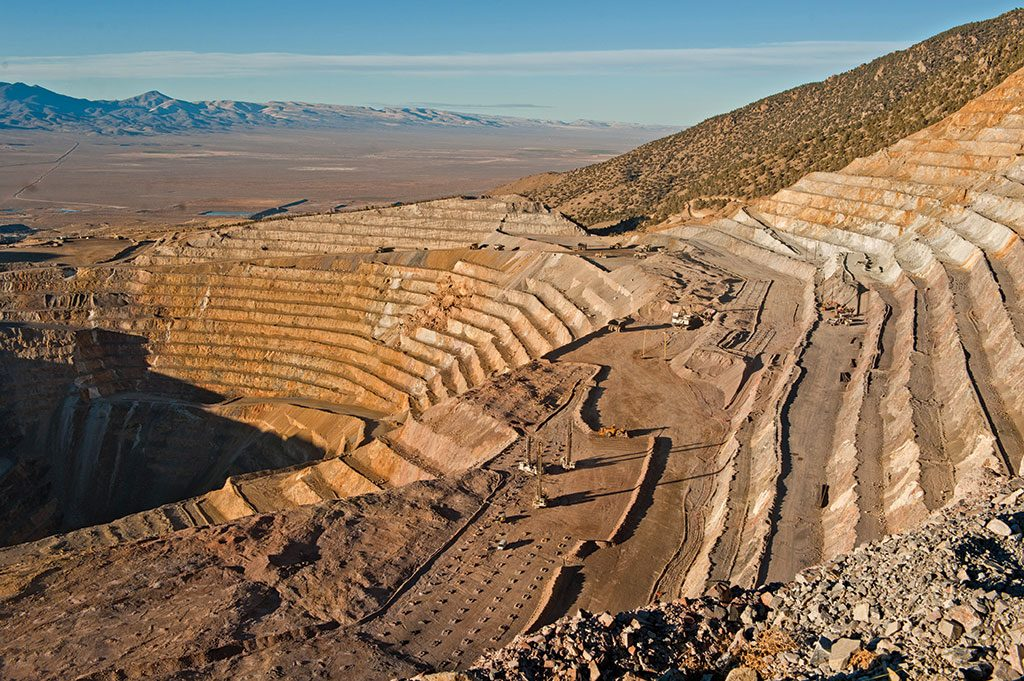 Barrick Gold's Cortez pit, looking north. The company had a $24.2-billion market capitalization at press time, making it Canada's largest gold producer by market cap and gold output. Credit; Barrick Gold.