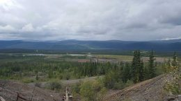 The view from Alexco Resource's Ken Hill silver-lead-zinc property, overlooking the Keno mining district in the Yukon's southern Klondike region. Photo by Matt Keevil.