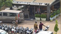 The Aziz Istanbul restaurant in Burkina Faso's capital Ouagadougou on the morning after a terrorist attack that killed at least 16 people and injured 22 more on Aug. 13, 2017. Credit: AP.