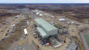New Gold's Rainy River gold mine under construction in northwestern Ontario in May 2017. Credit: New Gold.