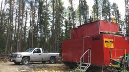 A drill rig at Pure Gold Mining's Madsen gold property in Ontario's Red Lake region. Credit: Pure Gold Mining.