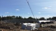 A crane on-site for mill construction at Harte Gold's Sugar gold project in northern Ontario. Credit: Harte Gold.