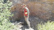 Dale Brittliffe, Silver Viper Minerals' vice-president of exploration, on the Clemente silver-gold property in Sonora, Mexico. Credit: Silver Viper Minerals.