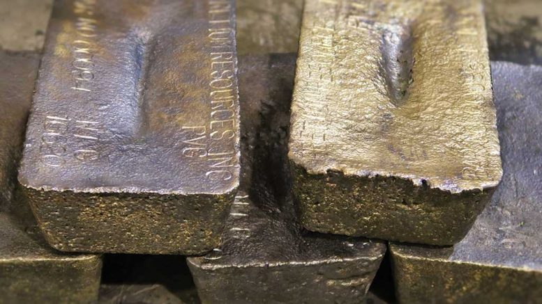 Gold bars produced at the Brucejack gold mine. Credit: Pretium Resources.