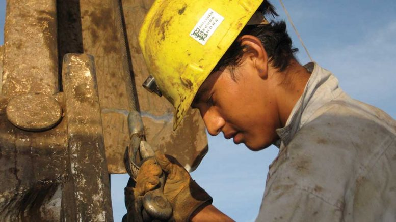 A worker at Fortuna Silver Mines' San Jose silver-gold mine. Credit: Fortuna Silver Mines.