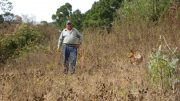 Walking the land at Argentum Silver's Coyote silver-gold property in Mexico's Jalisco state 2011. Photo by The Northern Miner.