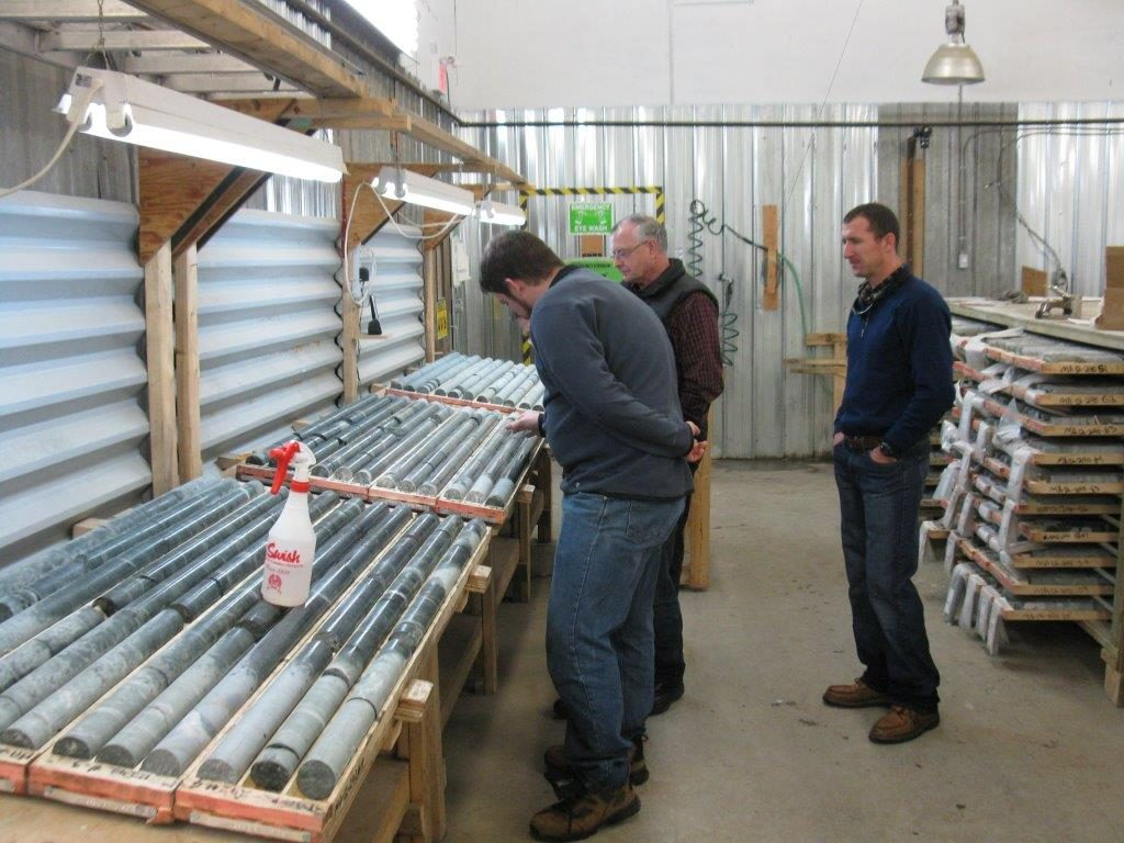 Core samples being observed at Magino. Credit: Argonaut Gold.