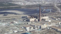 A view of Vale's Thompson nickel operations in 2008, with the city of Thompson, Man., in the background. Credit: Wikipedia.