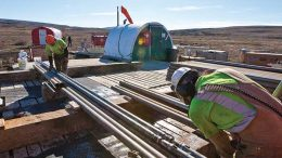 Workers in an undated photo taken at Northern Dynasty Minerals' Pebble copper-gold project in Alaska. Credit: Northern Dynasty Minerals.