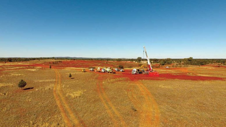 A drill site at Clean TeQ Holdings' Sunrise cobalt-nickel-scandium project in Australia, 350 km west of Sydney. Credit: Clean TeQ Holdings.