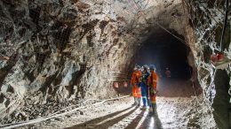 Underground miners at the the Vale do Curaça (MCSA) copper complex in northeastern Bahia State in Brazil. Credit: Ero Copper.