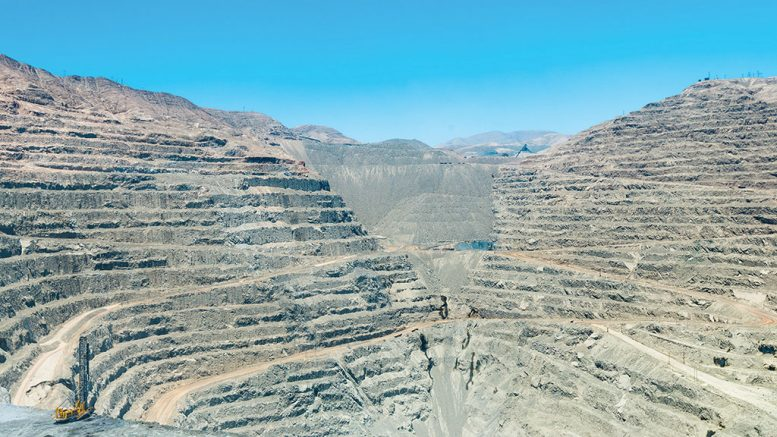 The pit at Lundin Mining's 80%-owned Candelaria copper mine in Chile. Credit: Lundin Mining.