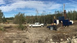 A drilling site at Treasury Metals' Goliath gold property in Ontario. Credit: Treasury Metals.