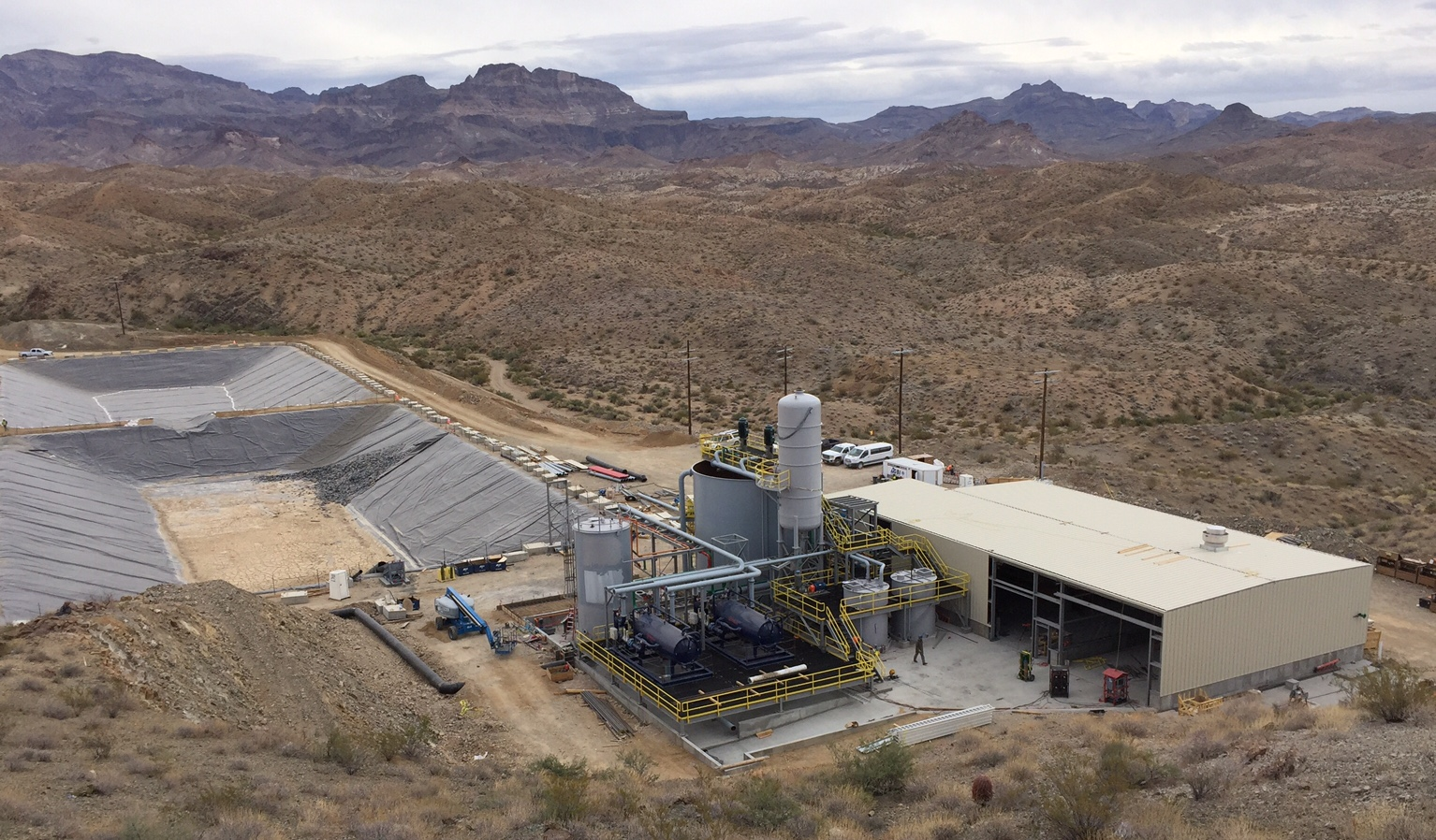 The Moss mine processing facility in Arizona. Credit: Northern Vertex.