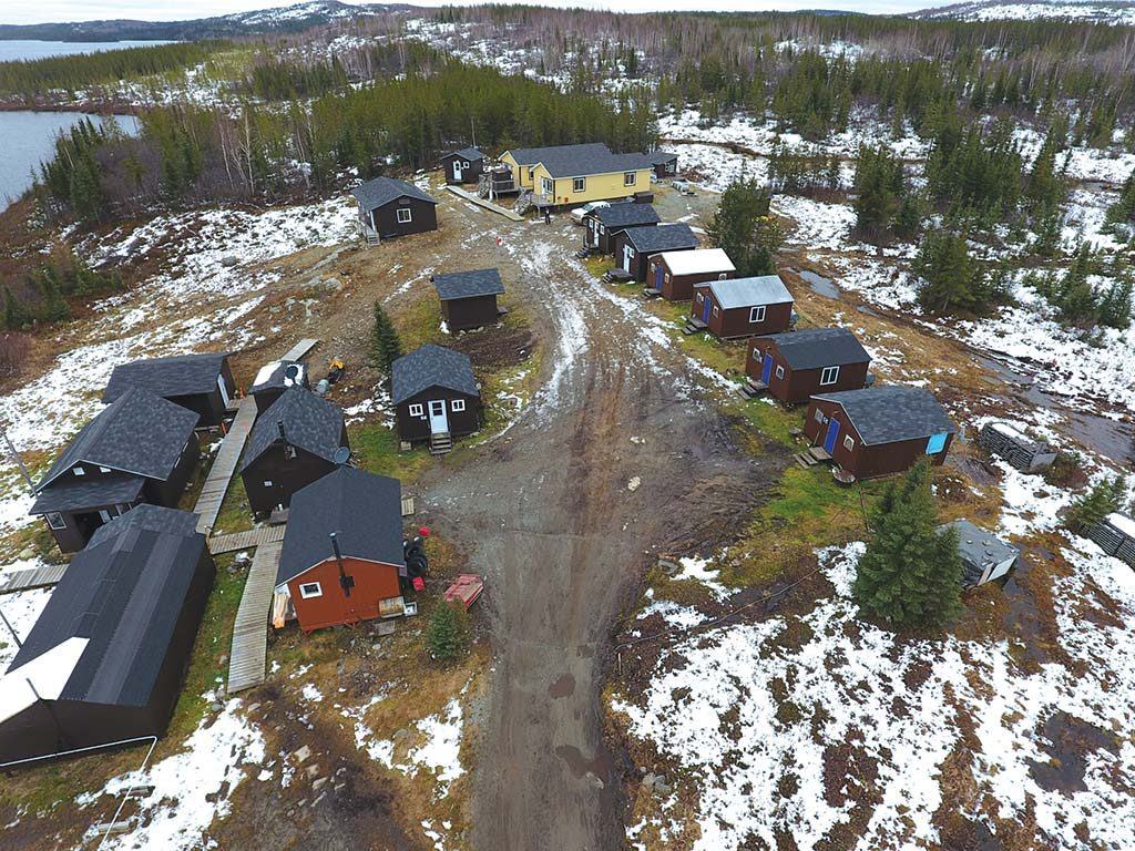 The camp at Eastmain Resources' Clearwater gold property in Quebec, which hosts the Eau Claire deposit. Credit: Eastmain Resources.