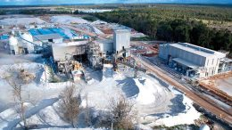 The processing plant, as seen in 2011, at Talison Lithium's Greenbushes lithium mine in Western Australia, which produces about half of the world's lithium supply. Talison is a joint venture between Albemarle and Tianqi Lithium. Credit: Talison Lithium.