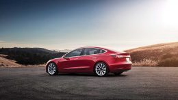 Tesla Motors' entry level Model 3 electric vehicle. Credit: Tesla Motors.