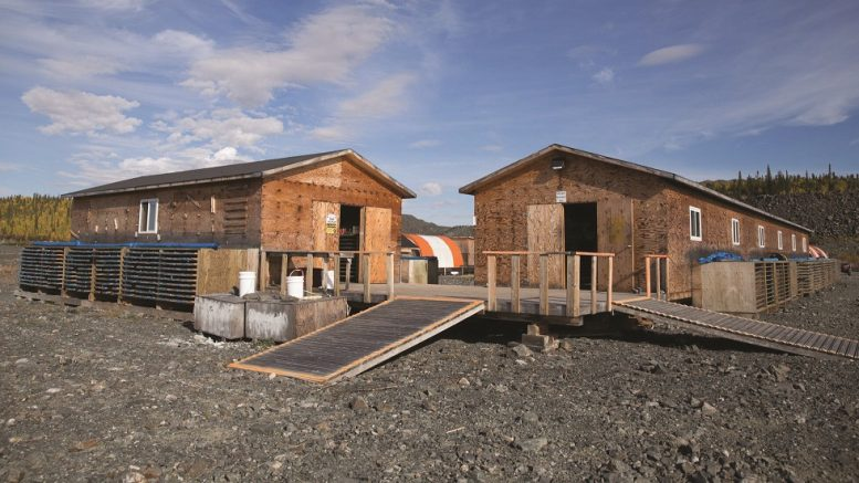 Core shacks at Nighthawk Gold's Colomac gold project in the Northwest Territories. Credit: Nighthawk Gold.