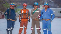 Workers in 2016 at Primero Mining's San Dimas gold-silver mine, 125 km northeast of Mazatlan, Mexico. Credit: Primero Mining.