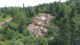 The Line 60 area at Rock Tech Lithium's Geogia Lake lithium project, 145 km northeast of Thunder Bay, Ontario. Credit: Rock Tech Lithium.