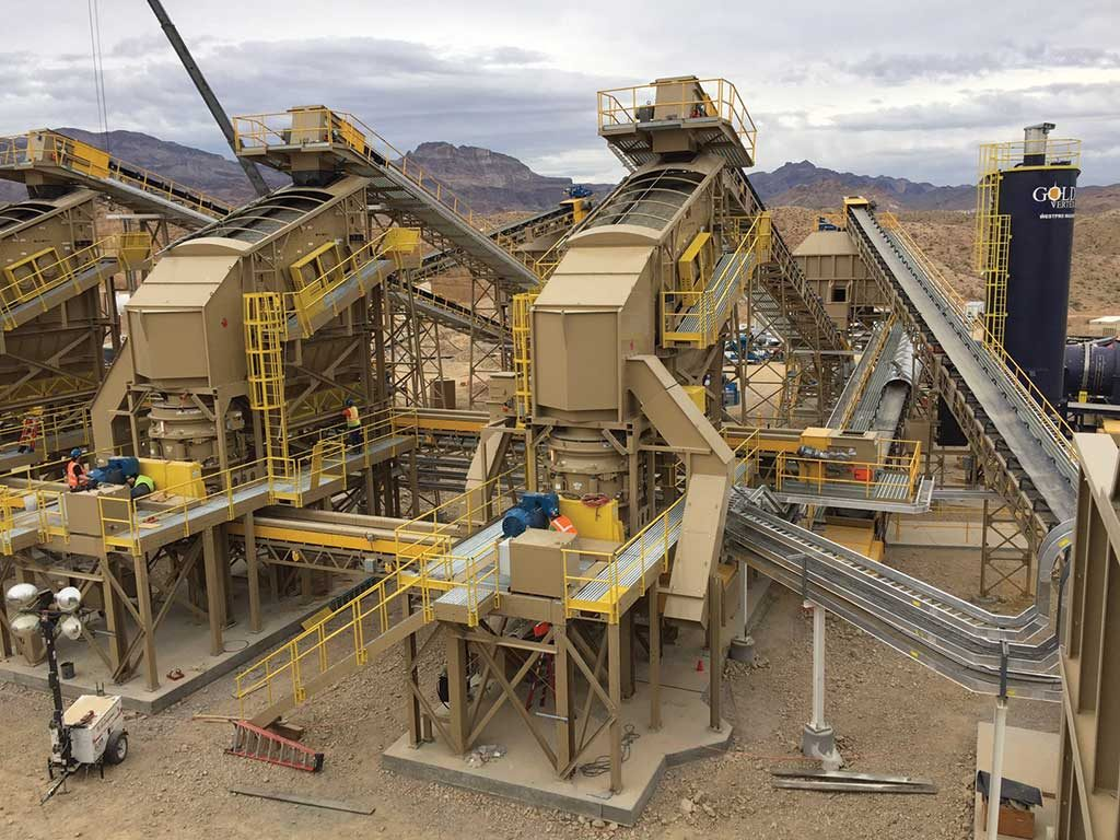 Northern Vertex Mining milling facilities, which could process 5,000 tonnes daily over five years by March. Credit: Northern Vertex Mining.