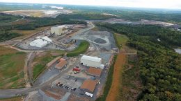 An aerial view of the Touquoy processing facilities at Atlantic Gold's Moose River Consolidated gold project in Nova Scotia. Credit: Atlantic Gold.