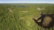 An aerial view of First Cobalt's Keeley cobalt property in northern Ontario. Credit: First Cobalt.