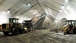 Copper concentrate in a storage facility at the Minto mine. Credit: Capstone Mining.