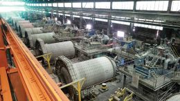 A grinding plant that processes ore from Codelco's El Teniente copper mine in Chile. Credit: Codelco.