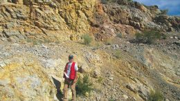 Project manager Pete Shabestari at Liberty Gold's Goldstrike gold project in southwest Utah. Credit: Liberty Gold.