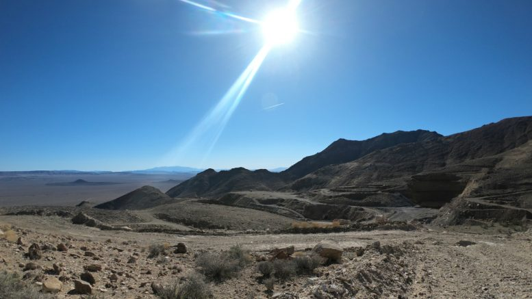 Northern Empire's Sterling gold project in the Nevada Desert. Photo by Richard Quarisa.