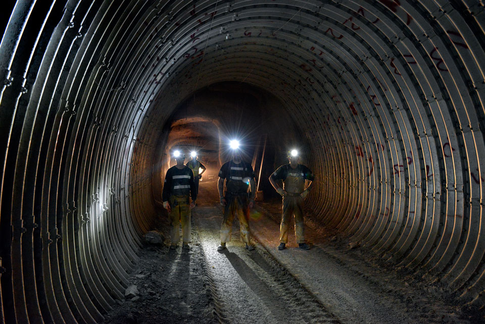 Underground mining at Hecla's Lucky Friday operation in Idaho. Credit: Hecla Mining.