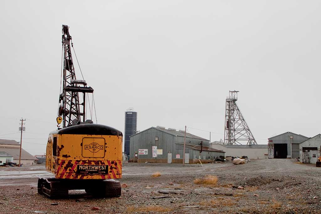 Facilities and equipment from historic operations at the Buchans mine in Newfoundland. Photo by The Northern Miner.