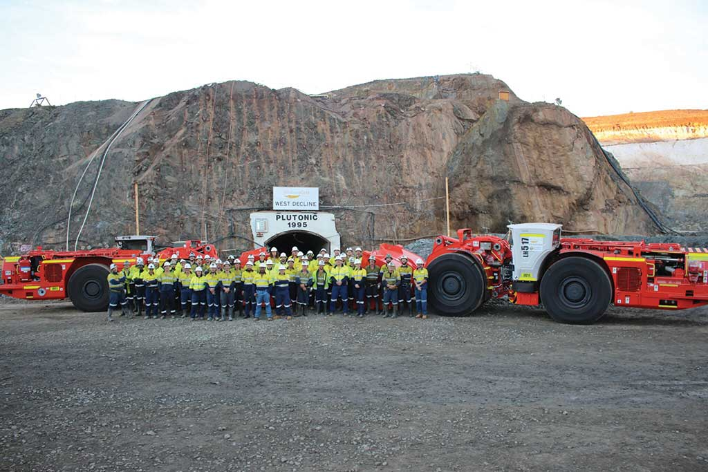 Miners outside a portal at Superior Gold's Plutonic gold mine in Western Australia. Credit: Superior Gold.