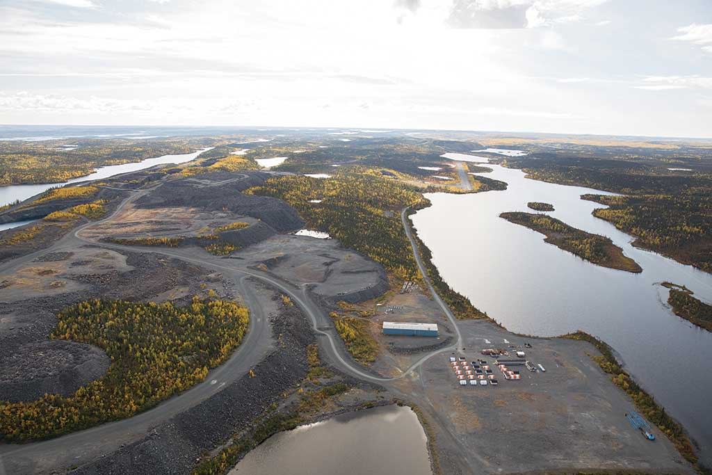 The airstrip at Nighthawk Gold's Colomac gold project in the Northwest Territories. Credit: Nighthawk Gold.