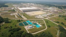 The Portsmouth gaseous-diffusion uranium enrichment facility in Piketon, Ohio. Credit: U.S. Department of Energy.