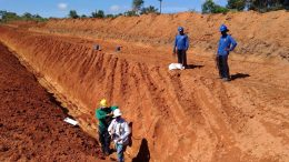 Trenching at Altamira Gold Corp.'s Cajuiero gold project in the Juruena Mineral Belt of eastern Brazil. Photo Credit: Altamira Gold Corp.