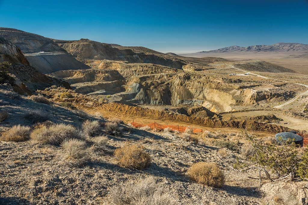 A drill at Pershing Gold's Relief Canyon gold project in Nevada. Credit: Pershing Gold.