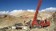 Drillers at Gold Fields' Salares Norte gold-silver project in northern Chile. Credit: Gold Fields.