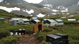 The camp at GT Gold's Saddle gold property in northwest British Columbia. Credit: GT Gold.