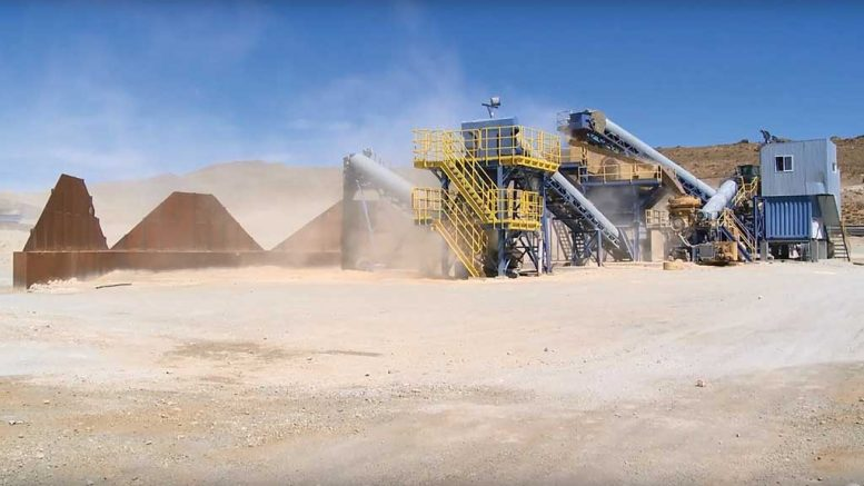 The crushing circuit at Hunt Mining's Martha silver-gold mine in Santa Cruz province, Argentina. Credit: Hunt Mining.