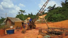 Drillers in 2011 at Belo Sun Mining's Volta Grande gold project in Brazil. Credit: Belo Sun Mining.